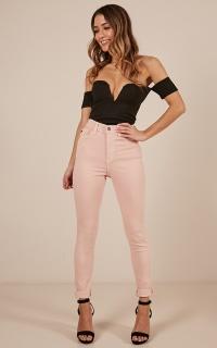 Sasha Skinny Jeans In Blush