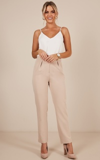 Clever Lady Pants In Beige