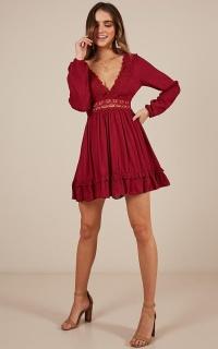 Sweet Lady Dress in wine