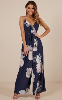 Only Us Jumpsuit In Navy Floral
