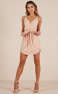 Dancing Dream Dress In Beige