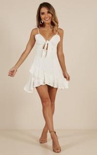 In Limbo Dress In White Linen Look