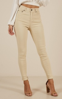 Fill Me In jeggings in beige