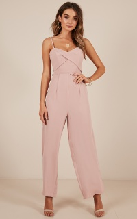 Through The Clouds Jumpsuit In Blush
