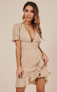 Play it Fair Dress in beige