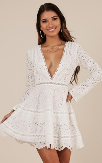 A World Away Dress In White Lace