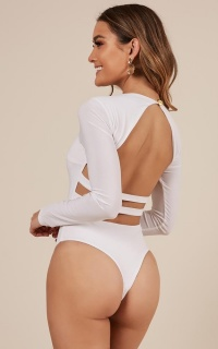 Swept Away bodysuit in white