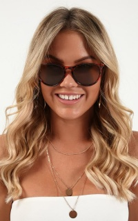 Oceans Apart Sunglasses In Tortoise Shell
