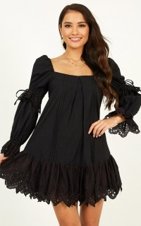 Foreign Territory Dress In Black
