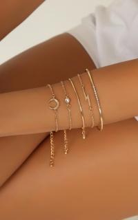 Slow Hands Bracelet Set In Gold