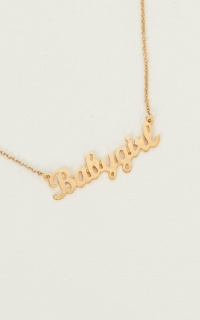Bby Girl Necklace In Gold