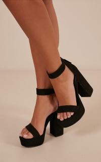 Lipstik - Sakari Heels In Black Micro