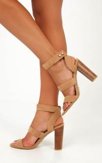 Billini - Jervis Heels In Camel Micro