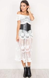 Dreamy Girl maxi dress in white