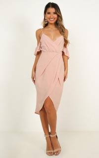 A Fair Go Dress In Blush