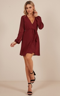 Across The Atlantic Dress In Wine