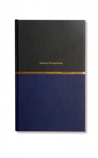 Alice Pleasance - At The Beginning notebook in navy and gold