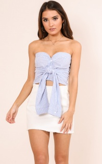 Be True Top In Blue Stripe