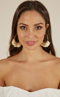 Before You Go earrings in gold
