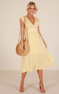 Beyond The Surface dress in yellow stripe