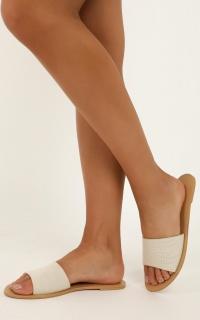Billini - Crete Slides in cream woven