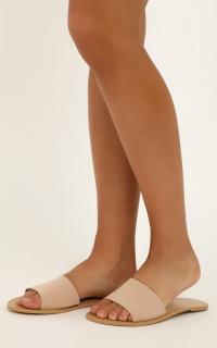 Billini - Crete Slides in nude nubuck