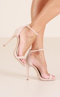 Billini - Della Heels in nude micro