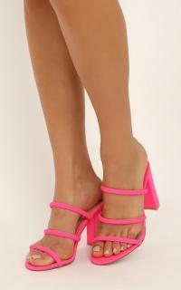 Billini - Elida Heels In Neon Pink Lycra