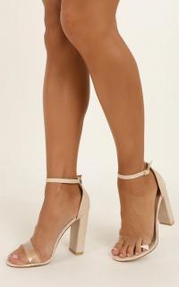 Billini - Leza Heels In Nude Snake