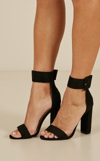 Billini - Lola Heels In Black Micro