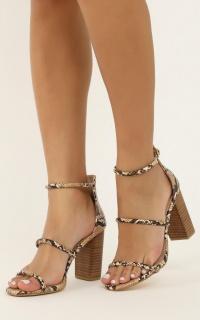Billini - Marlie Heels In Camel Snake
