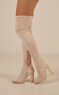 Billini - Piper boots in blush micro