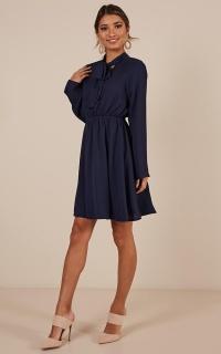 Bossy Girl Dress In Navy