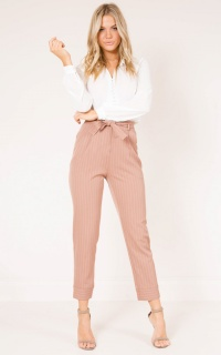 Breakaway pants in camel stripe