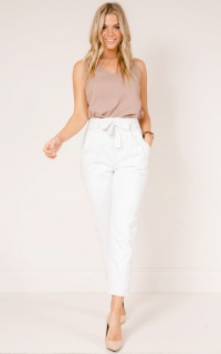 Breakaway pants in white stripe