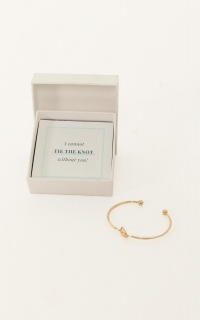 Bridesmaid Proposal Bangle In Gold