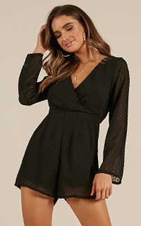 Build A Bridge Playsuit in black