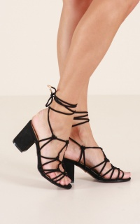 Billini - Cabana Heels in black micro