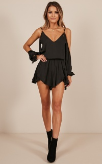 Cant Believe playsuit in black