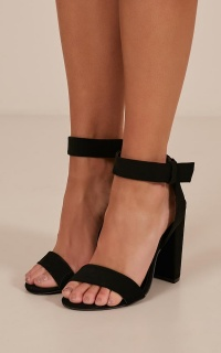 Cashmere Heels In Black