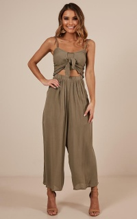 My Conditions Jumpsuit In Khaki