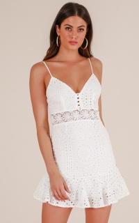 Cosmic Love dress in white