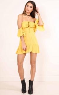 Day Dancing Dress in mustard