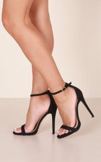 Billini - Della Heels in black micro