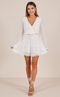 Double Locket dress in white