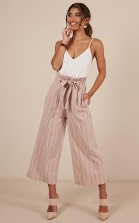 Ear To Ear Pants In Blush Stripe