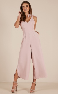 Fancy That Jumpsuit In Mauve