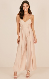 Feel My Love Jumpsuit In Beige