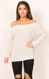 Falling Short knit in beige