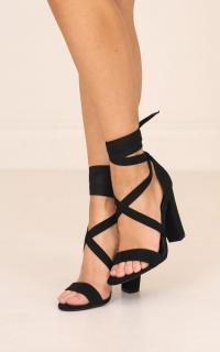 Lipstik - Gael Heels in black micro